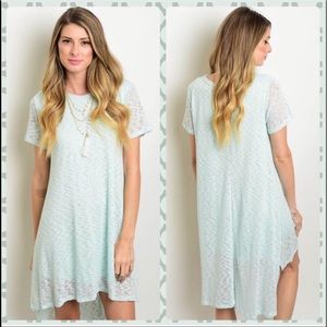 Mint Lined short sleeve dress!